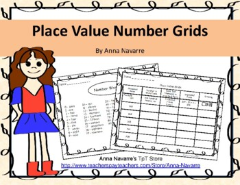 Place Value Number Grids