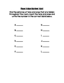 Place Value Number Hunt (Numbers 30-50)