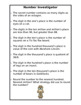 Place Value Number Investigator
