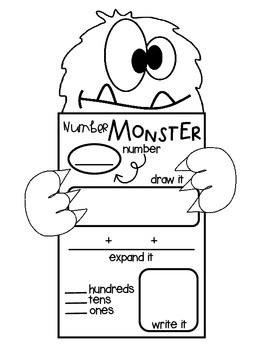 Place Value Number Monsters