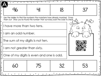 Place Value Number Munchers {Riddle Series}