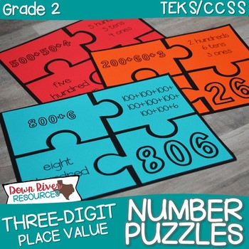 Place Value Number Puzzles: Standard Form, Expanded Form, & Word Form