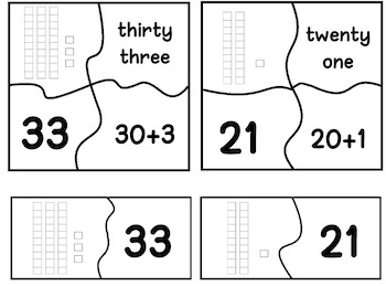 Place Value/Number Recognition Puzzles FREEBIE
