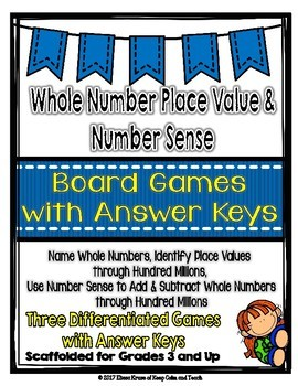 Place Value & Number Sense Board Games: Ones to Hundred Millions {Great Centers}