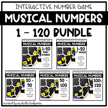 Place Value Number Sense Game Musical Numbers BUNDLE (with numbers 1-120)