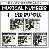 Place Value Number Sense Game Musical Numbers BUNDLE (with