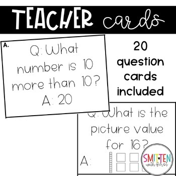 Place Value Number Sense Game Musical Numbers (with numbers 1-20)