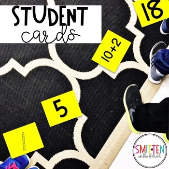 Place Value Number Sense Game Musical Numbers (with numbers 1-50)