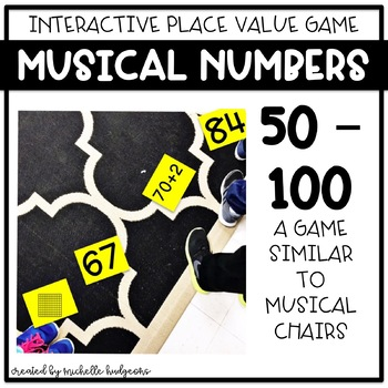 Place Value Number Sense Game Musical Numbers (with numbers 50-100)
