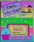 "Place Value & Number Sense Ten More & Ten Less Than ""I Have Who Has"" Game"