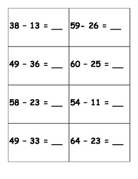 Place Value, Number Sentence, Ten Frames, Numeral Matching Game