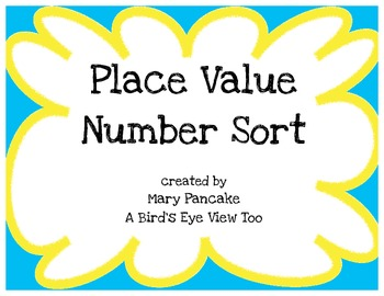 Place Value Sorting: Ones, Tens, Hundreds