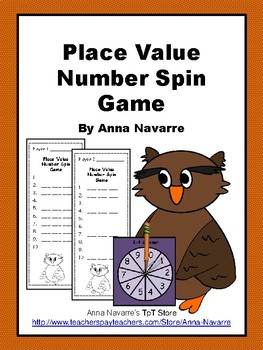 Place Value Number Spin Game