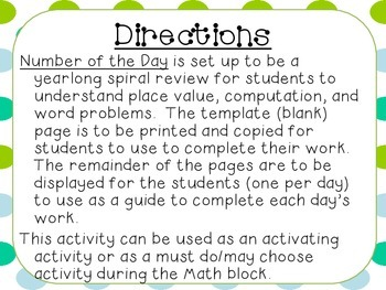 Place Value Number of the Day- 1st Semester Bundle