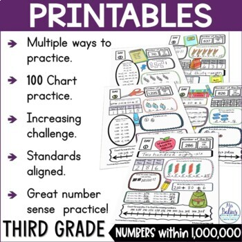 Place Value Number of the Day Morning Work Third Grade Bundle