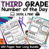 Number Sense GOOGLE SLIDES™ Number of the Day Third Grade Bundle