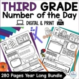 Number Sense GOOGLE SLIDES™ Number of the Day Third Grade Bundle