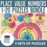Place Value Numbers 1-20 Puzzles Bundle
