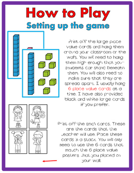 Place Value Numbers 11-19 JUST MOVE! (A Get Up and Move Around Game)
