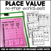 Place Value (Numbers 11-19) - No-Prep Worksheets OR Work M