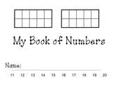Place Value: Numbers 11 to 20 small book.