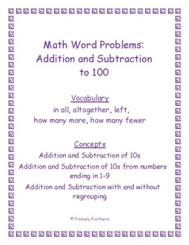 Place Value - Numbers Up to 100 - Word Problems