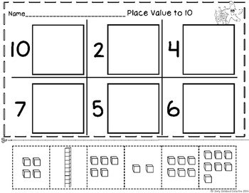 Place Value - Numbers to 10 Base 10 Blocks