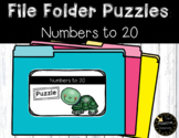 Place Value Game Numbers to 20 File Folder Puzzles Spring Theme