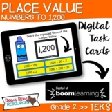 Place Value Numbers up to 1,200 Second Grade TEKS Boom Car