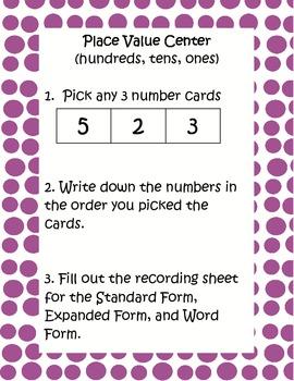 Place Value / Numeration (3 digit)