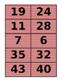 Place Value/Odds vs. Evens Card Sort