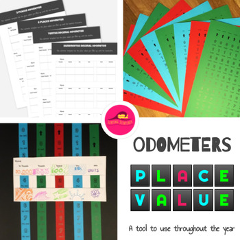 Place Value Craft Activity | Place Value Worksheets 4th Grade | Odometer