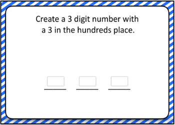 Place Value Ones, Tens, Hundreds Boom Card Differentiated Bundle