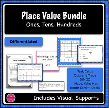 Place Value Ones, Tens, Hundreds 5 Game Bundle