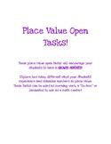Place Value Open Tasks