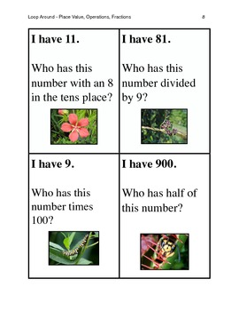 Place Value & Operations Loop Around