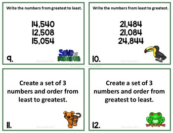 Place Value Order Numbers Set 3