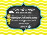 Place Value Order Sort- 3 Digits