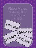 Place Value- Ordering Card Sort Game- 6 Digit
