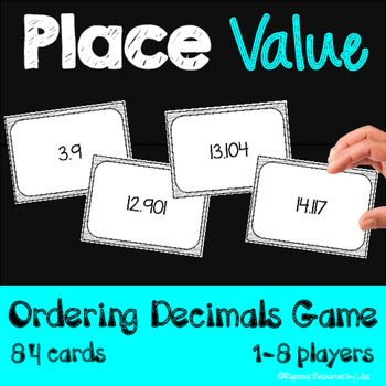 Place Value - Ordering Decimals Card Game