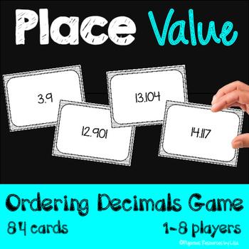 Place Value - Ordering Decimals Card Game