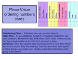 Place Value - Ordering Numbers Flashcards and Lining Up Activity