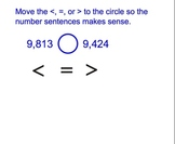 Place Value - Ordering Numbers Review Smart Board Activity