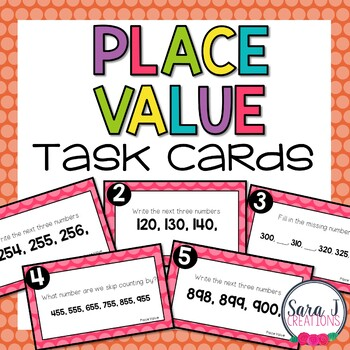 Place Value Overview Task Cards
