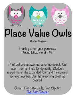 Place Value Owls