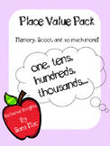 Place Value Worsheet Pack, expanded notation, standard notation