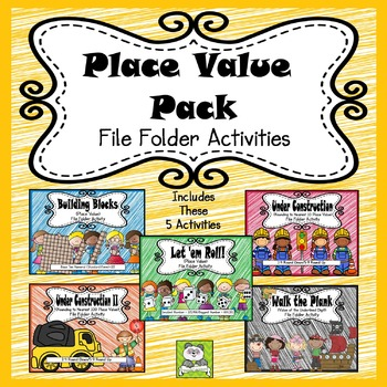 Place Value Pack File Folder Activities (CC Aligned)