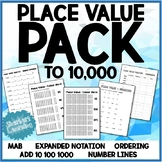 Place Value Pack - expanded notation, tic-tac-toe, ordering, skip counting +more