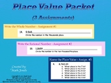 Place Value Packet  (3 Assignments)