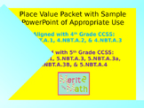 Place Value Packet with PowerPoint